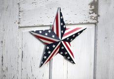 De Patriottische Ster van Verenigde Staten Royalty-vrije Stock Foto's
