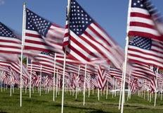 De patriottische Vertoning van de Vlag Stock Foto