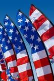 De patriottische Vlaggen van de Veer Stock Afbeeldingen