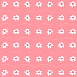 De patronen met Leuke Bloemenachtergrond plaatsen voor om het even welk gebruik groot Vector eps10 Royalty-vrije Stock Foto