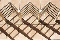 De Patronen van de architectuurschaduw royalty-vrije stock fotografie