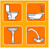 De patronen van de badkamers royalty-vrije illustratie