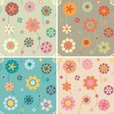 De patronen van de bloem Royalty-vrije Stock Afbeeldingen