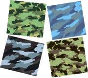 De patronen van de camouflage vector illustratie