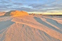 De patronen van de erosie in het Nationale Park van de Mungo Stock Afbeelding