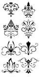 De patronen van de inzameling, ontwerpen, decors Stock Afbeelding