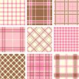 De patronen van de plaid Royalty-vrije Stock Afbeelding