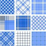De patronen van de plaid vector illustratie