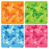 De patronen van de vlinder Stock Foto's