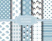 De patronen van de winter Stock Afbeeldingen