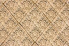 De patronen van het oosten op een muur royalty-vrije stock afbeeldingen