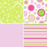 De patronen van het plakboek voor ontwerp,   Stock Foto's