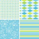 De patronen van het plakboek voor ontwerp,   Stock Foto
