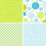 De patronen van het plakboek voor ontwerp,   Stock Afbeelding