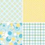 De patronen van het plakboek voor ontwerp,   Stock Afbeeldingen