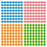 De patronen van het tafelkleed Stock Foto