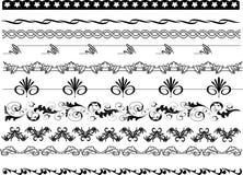 De patronen van kaderhoeken, Grenzen en bloemenontwerpen stock illustratie
