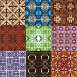 De patronen van ornamenten voor ontwerpen Stock Foto
