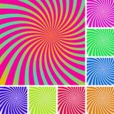 De patronen van Swirly stock illustratie