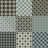 De Patronen van Swirly in Blauw en Bruin Royalty-vrije Stock Afbeeldingen