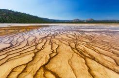 De Patronen van Yellowstone Royalty-vrije Stock Foto's