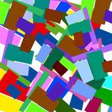 De patronenachtergrond van het blok Royalty-vrije Stock Afbeelding
