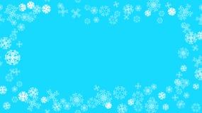 De patroontextuur van van het Nieuwjaar` s Kerstmis van de kader witte sneeuwwinter feestelijke diverse samenvatting sneed sneeuw royalty-vrije illustratie