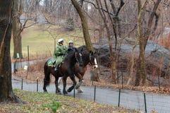 De Patrouille van het Paard van het Central Park royalty-vrije stock afbeeldingen