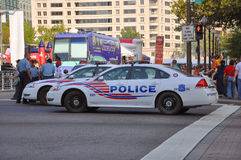 De patrouille van politiewagens, Washington DC Stock Fotografie