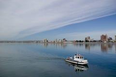 De patrouilleboot van de kust Stock Foto