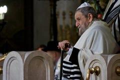 De Paus Benedictus XVI van Rome bezoekSynagoge van Rome Stock Fotografie