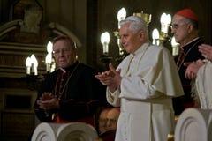De Paus Benedictus XVI van Rome bezoekSynagoge van Rome Royalty-vrije Stock Afbeelding
