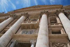 De Pauselijke Basiliek van St Peter in het Vatikaan Royalty-vrije Stock Afbeelding