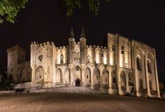 De pauspaleis van Avignon stock afbeelding
