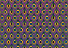 De pauw bevedert moderne patroonachtergrond Royalty-vrije Stock Afbeeldingen