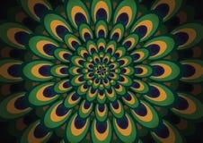 De pauw bevedert patroonachtergrond Stock Fotografie