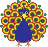 De Pauw van de regenboog royalty-vrije illustratie