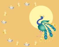 De pauw van Diwali royalty-vrije illustratie