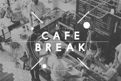 De Pauze van de de Koffieonderbreking van de onderbrekingskoffie ontspant Rust Concept royalty-vrije stock afbeelding
