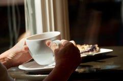 De Pauze van de Koffie van de koffie & van het Dessert Stock Fotografie