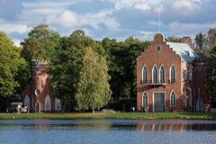 De paviljoenen van admiraliteit in het park van Catherine, St. Petersburg, Rusland Royalty-vrije Stock Foto's