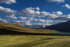 De paysage lac tso Moriri en route Photo libre de droits