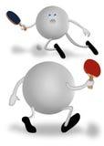 De peddels van de pingpong Stock Fotografie