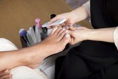 De pedicure van de voet Stock Fotografie