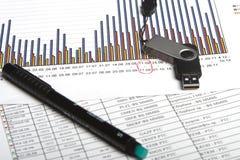 De pen & de flits van de grafiek Stock Foto