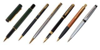 De pen en a ballpen Stock Afbeelding