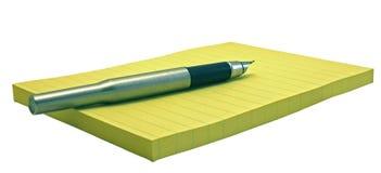 De pen en notapagina's Royalty-vrije Stock Afbeelding