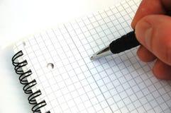 De pen van de holding Royalty-vrije Stock Afbeeldingen