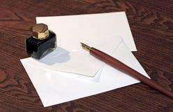 De pen van de inkt Stock Foto's