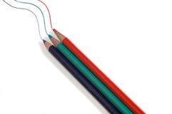 De pen van de kleur Stock Foto's
